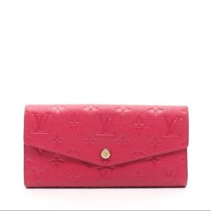 Louis Vuitton Curieuse Leather Wallet Red